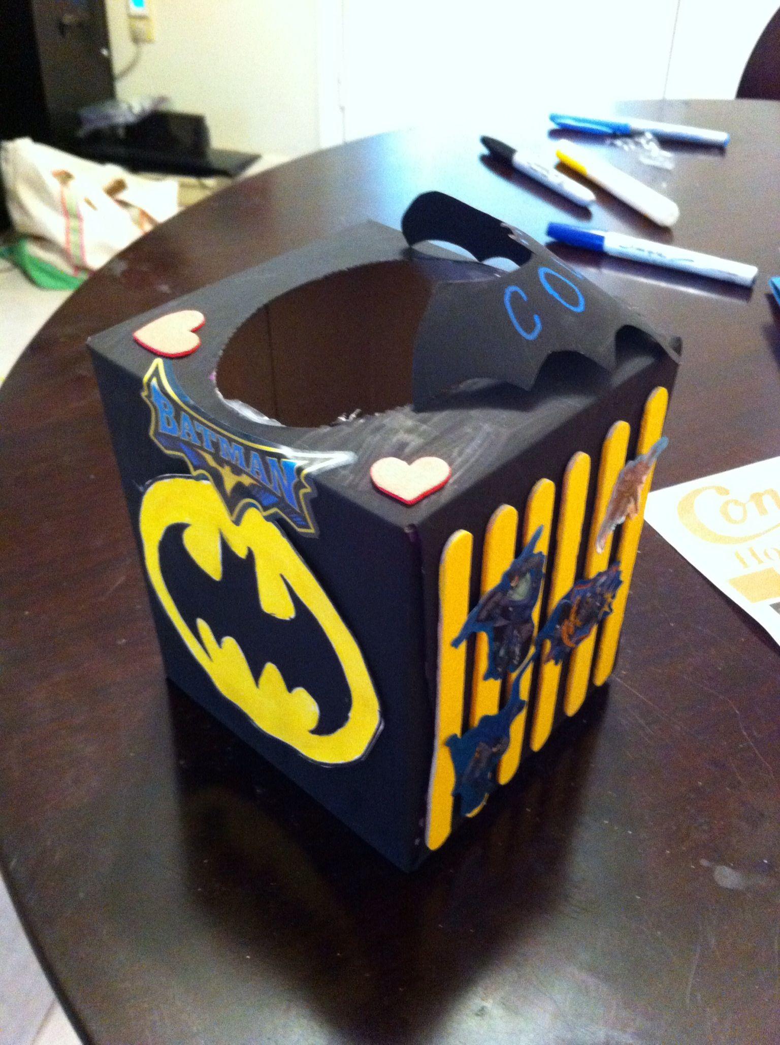 Batman Valentine Box: Made From A Tissue Box