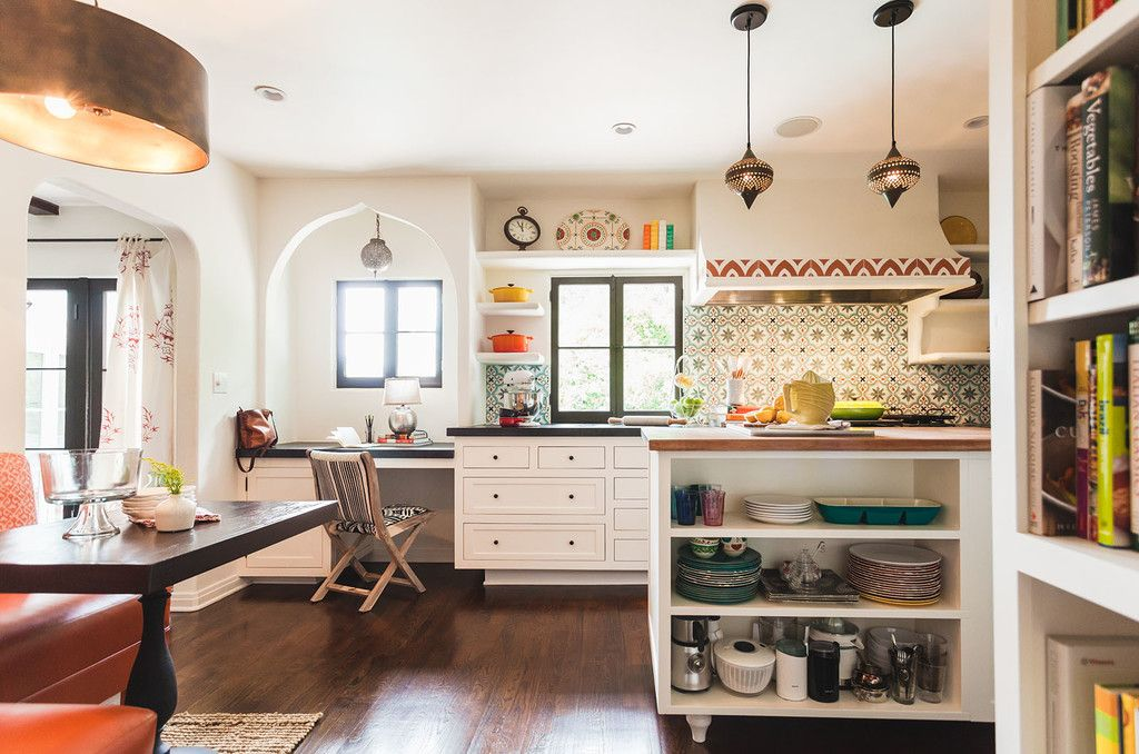 A Renovated Spanish Style Home Is Infused With Color Spanish Style Home Spanish Style Kitchen Spanish Style Homes