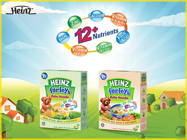 Heinz Baby Noodles are good for your baby because they...  1. Train the digestion ability of your little one 2. Develop motor skills from self-feeding 3. Help adjust infants from eating purées to general solid food 4. Keep the habit of eating good varieties