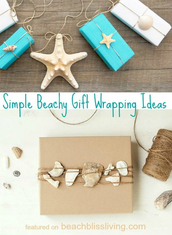 simple beachy gift wrapping ideas shells brown paper twine simple beachy gift wrapping ideas shells brown paper twine