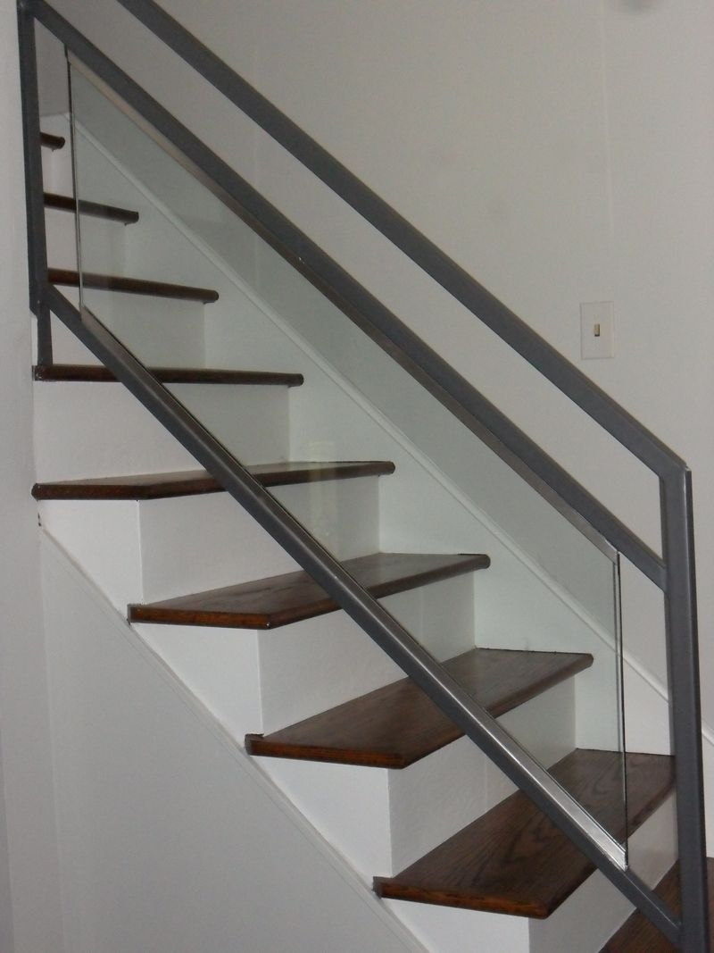 Best Ideas Beautiful Glass Stair Railing Design Examples To 640 x 480