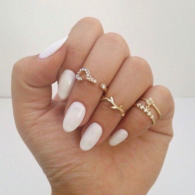 Dainty Jewelry Tumblr Google Search Uñas Ovaladas Como
