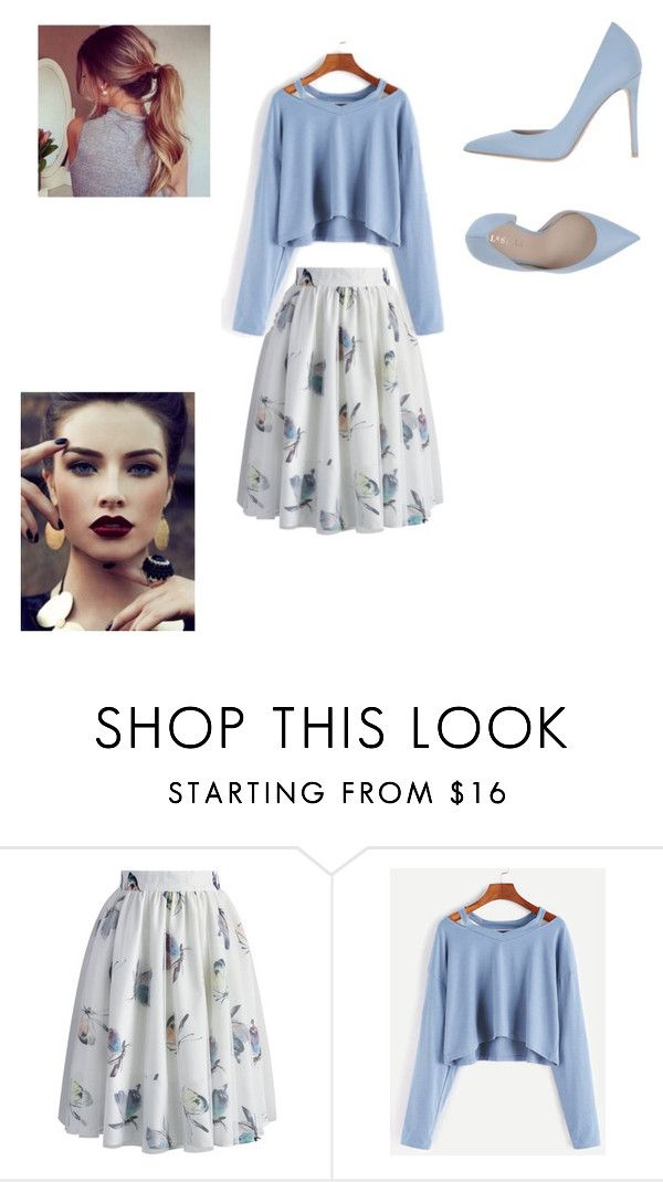 """Blue"" by uruetaga ❤ liked on Polyvore featuring Chicwish and Le Silla"