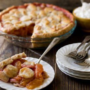 Peach Pie with Maple Whipped Cream