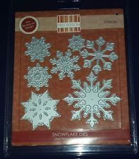 First edition Trimcraft Christmas Snowflake die set *NEW* 7 dies LATEST RELEASE