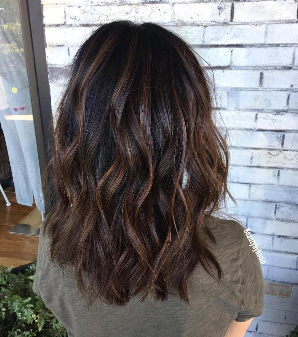 70 Brightest Medium Layered Haircuts to Light You Up #fallhaircolorforbrunettes Pretty Wavy Hairstyle with Choppy Layers