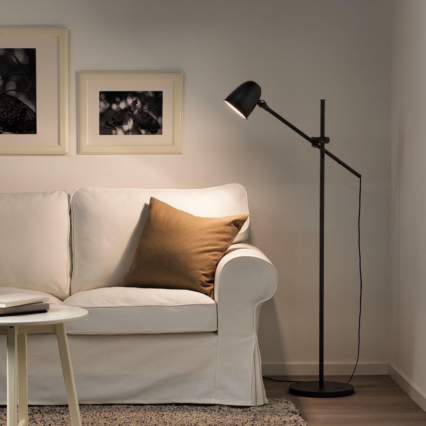 SKURUP Staande/leeslamp, zwart IKEA Reading lamp floor