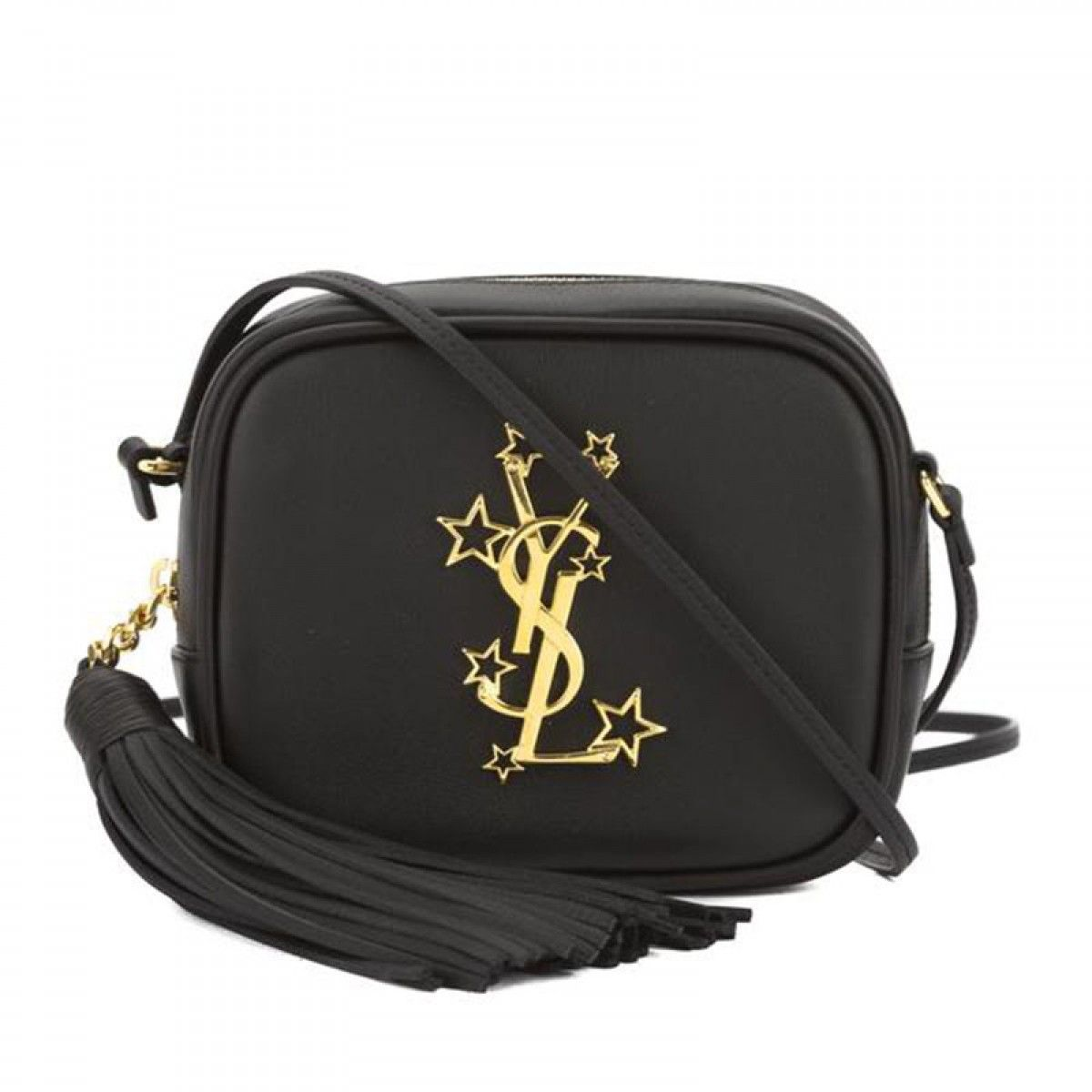 bff22bd4bca5 Saint Laurent Monogram Star Studded Blogger Bag In Leather Black