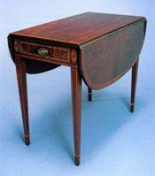 Drop Leaf Table Ca 1940 1950 Mahogany Secondary Woods Fine Arts
