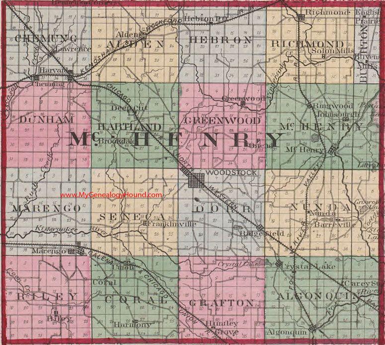 San Jose Monterey Map%0A McHenry County  Illinois      Map Woodstock  Johnsburgh  Algonquin   Richmond  Marengo