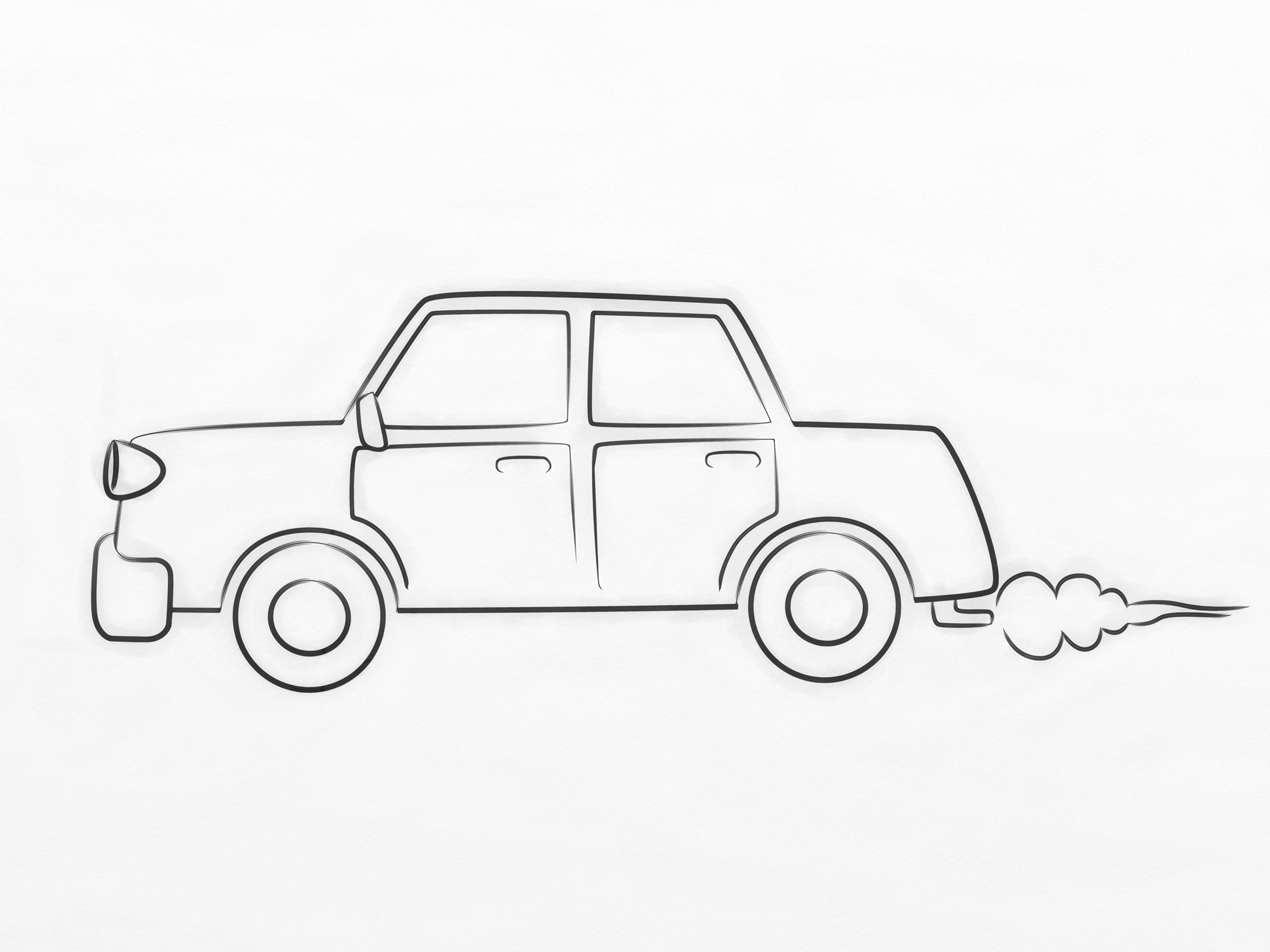 How To Draw A Cartoon Car 8 Steps With Pictures Wikihow With