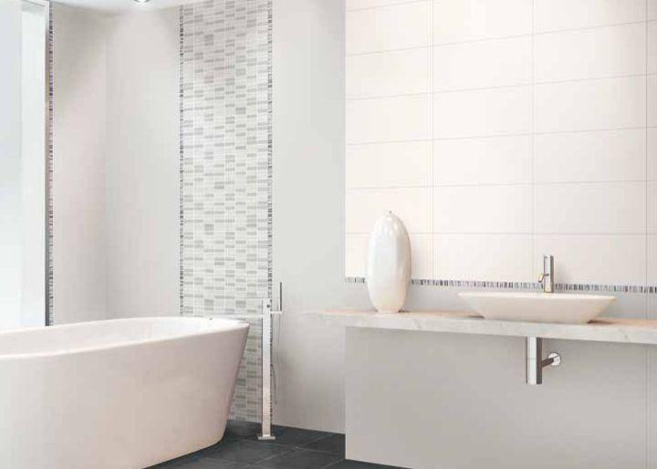 Bagno Bianco ~ Piastrelle bagno bianco grigio bicottura 20x50 cm edilhasta