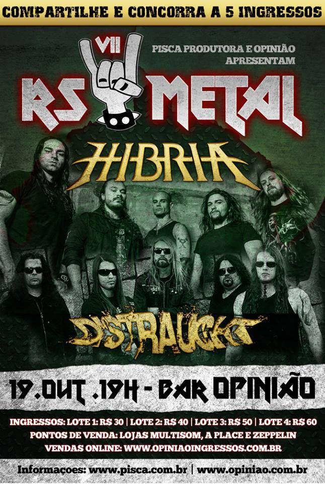 Distraught toca ao lado do Hibria no VII RS Metal Fest