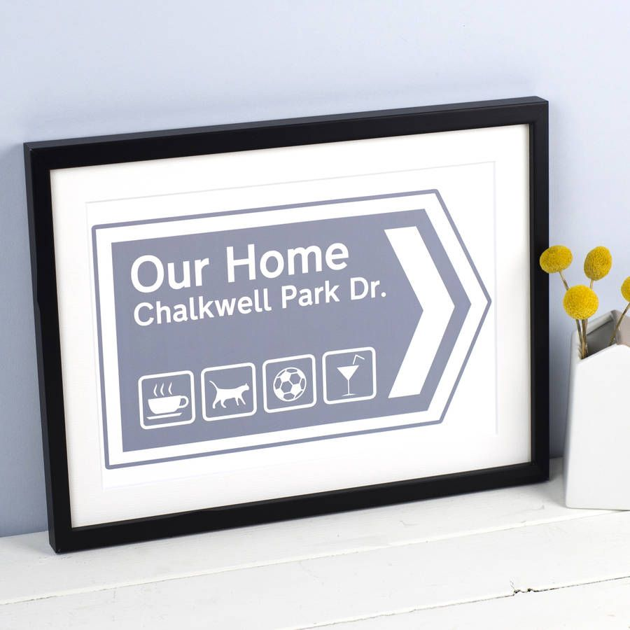 Personalised Our Home Print | Printing