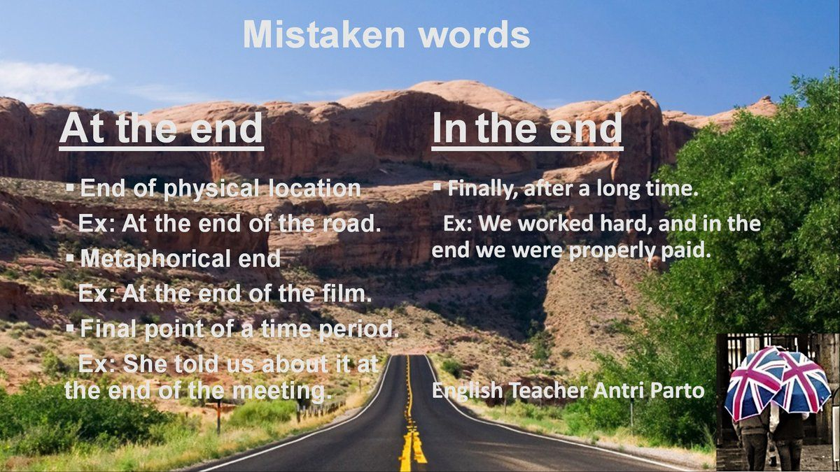 'At the end' or 'In the end'? #learnenglish