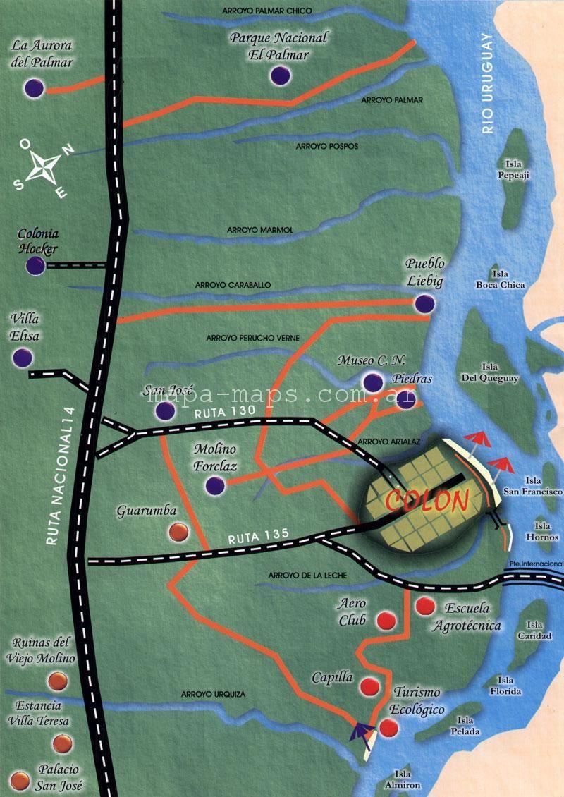 plano turstico de coln httpmapa mapscomar