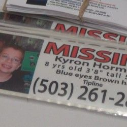 Finally, she does a media story focused on HER SON who is missing from HIS SCHOOL and not blaming the mother that raised him.  http://www.kdrv.com/kyrons-mom-speaks-on-child-abduction/