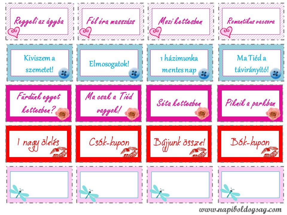 Szerelem kupon, valentin Nap Info