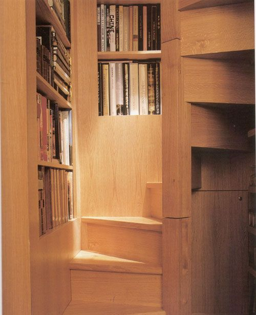 Small Staircase Library House Blueprints Home Libraries