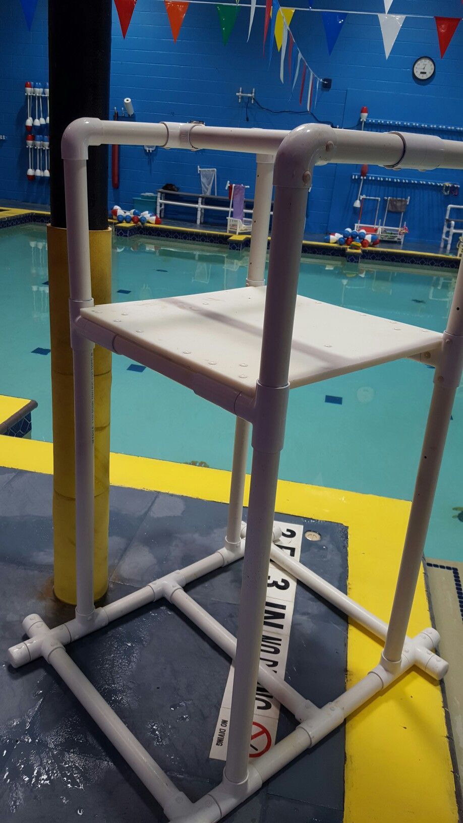 Pvc custom pool platform for swim lessons fun projects - Above ground pool platform ...