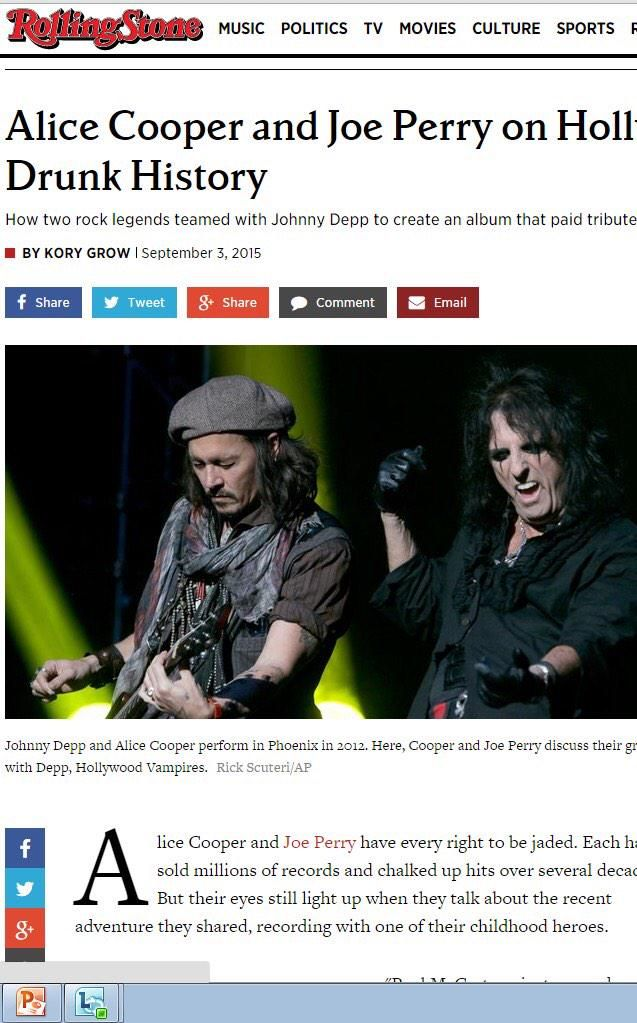Check out this great piece in @RollingStone on the @hollywoodvamps! http://www.rollingstone.com/music/news/alice-cooper-and-joe-perry-on-hollywood-vampires-drunk-history-20150903?page=5 …