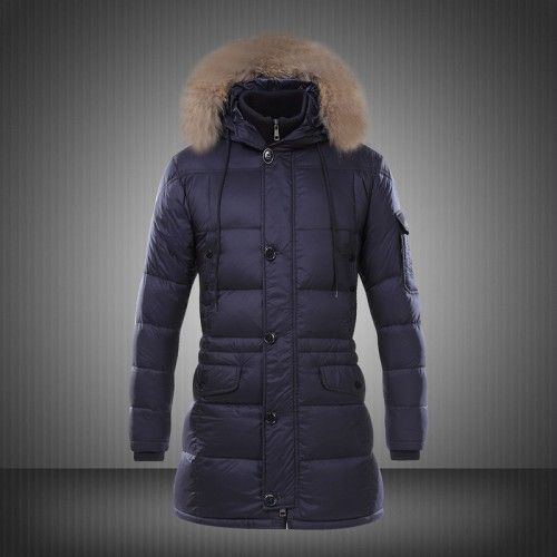 separation shoes e043d 80f78 Vendita Moncler Down Jacket Fur Hood Uomo Blu - Nuovi ...