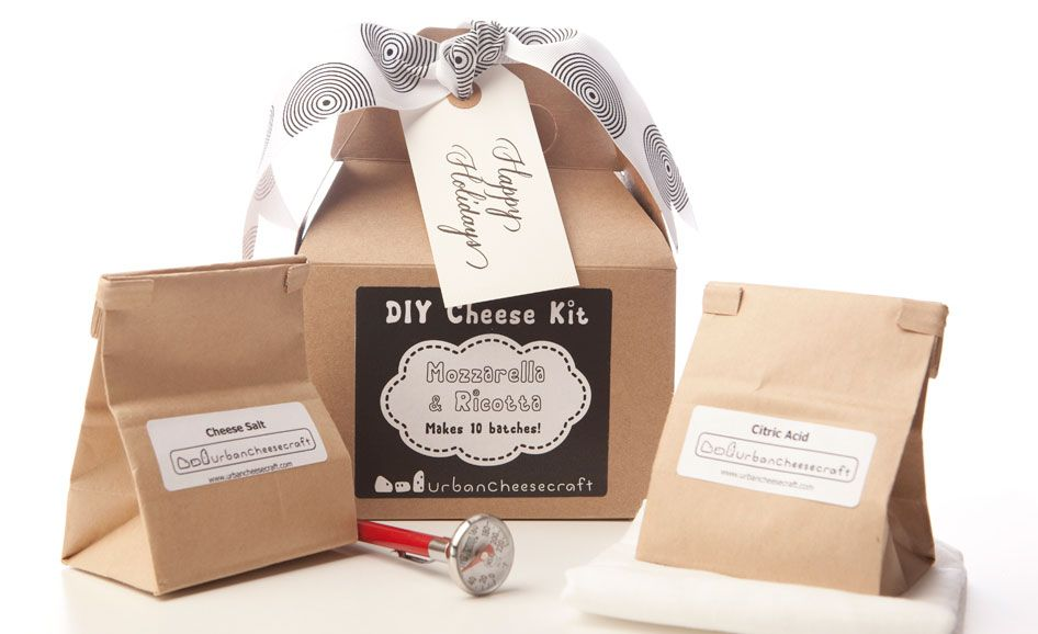 "Make CHEESE at home with these simple step-by-step instructional kits and B.Y.O.M. (milk:). Available in Goat Cheese, Farmers Cheese, or yummy Mozzarella/Ricotta Cheese! A wonderful gift for the foodie in your life OR a great ""to-do"" project for the kids at home."