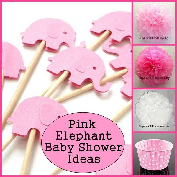 Baby Shower Pink Elephant Theme | www.imgkid.com - The ...