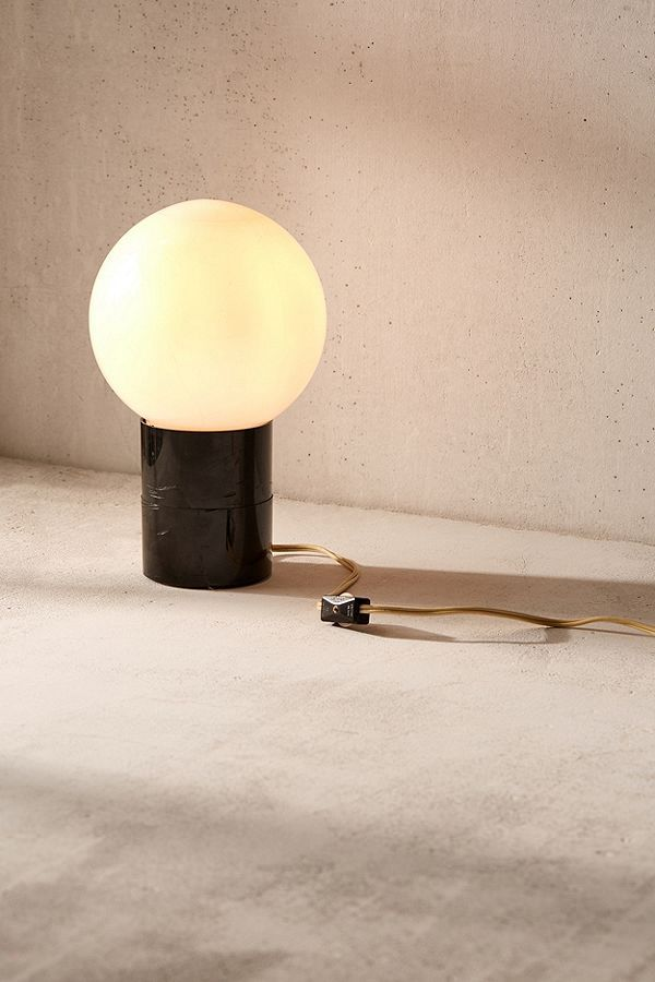 Bauhaus style minimalist vintage orb lamp, curated by Casa