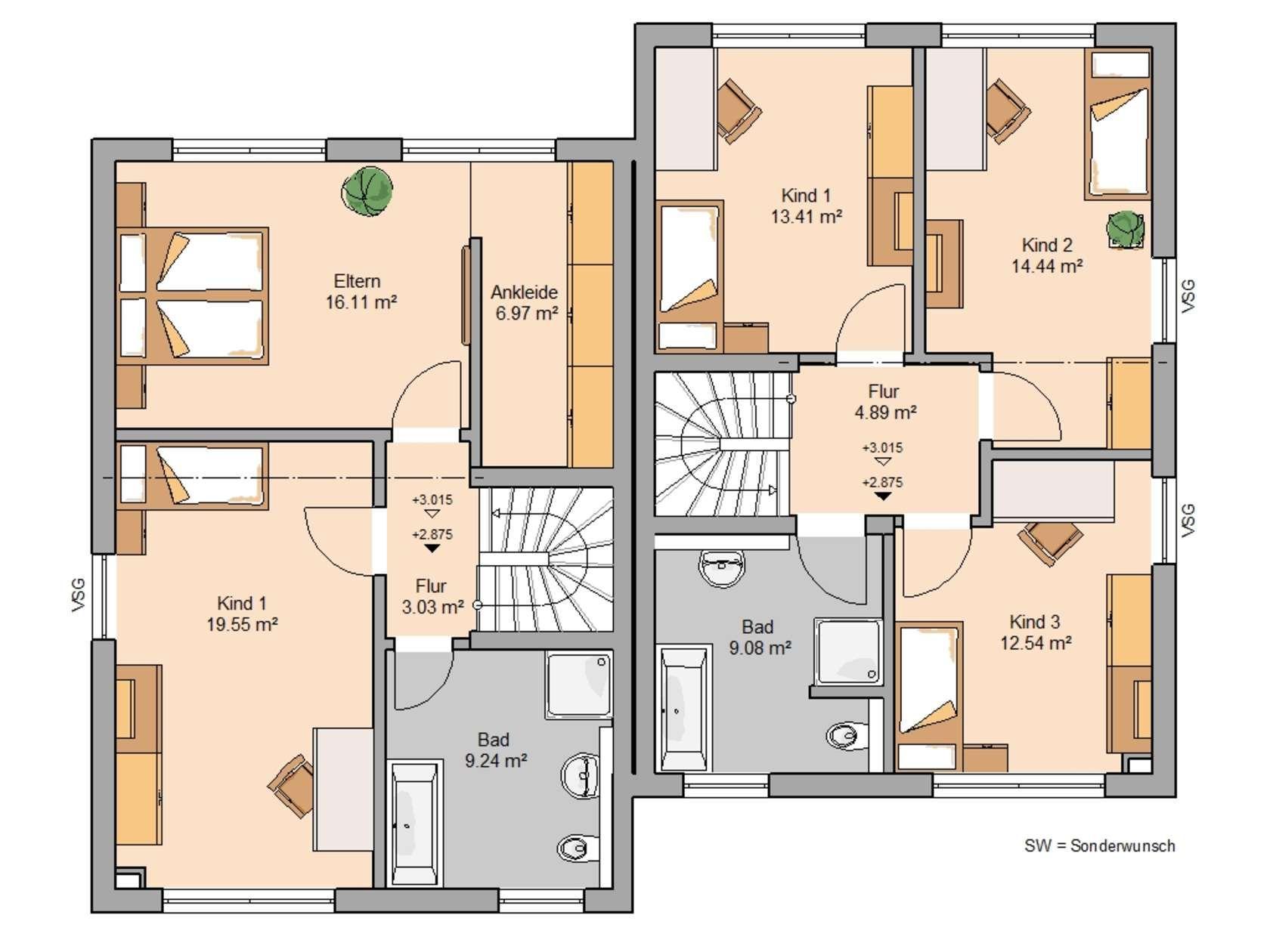 Doppelhäuser (mit Bildern) Haus, Kern haus, Haus grundriss