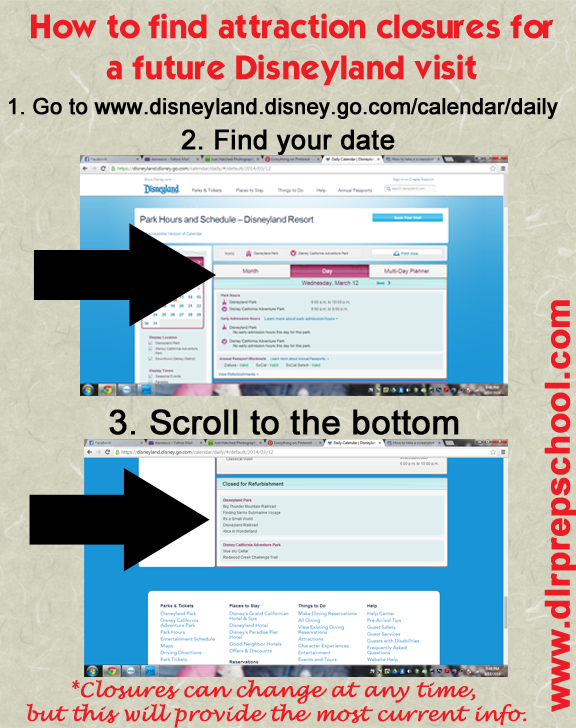 A quick way to find out which rides might be closed during your Disneyland visit.