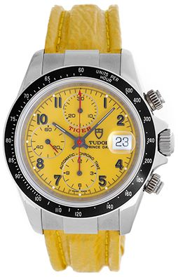 Rolex Tudor Tiger Prince Chronograph Yellow Stainless Steel Men's Watch 79260