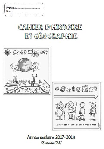 Page De Garde Cahier D Histoire Geographie Cm1 Cm2 Avec Images