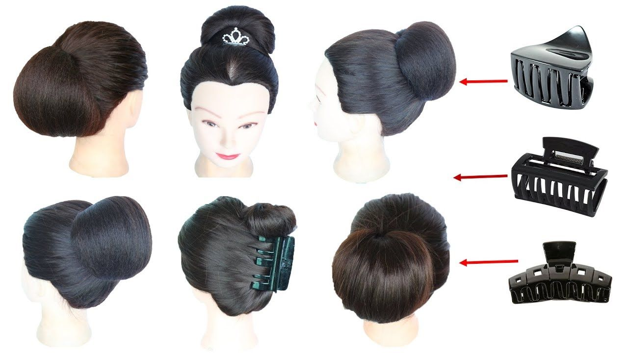 6 Easy Everyday Hairstyle With Using Clutcher Juda Hairstyle