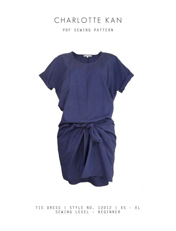 Tie Dress PDF Sewing Pattern for Women | Women\'s Dress Sewing ...