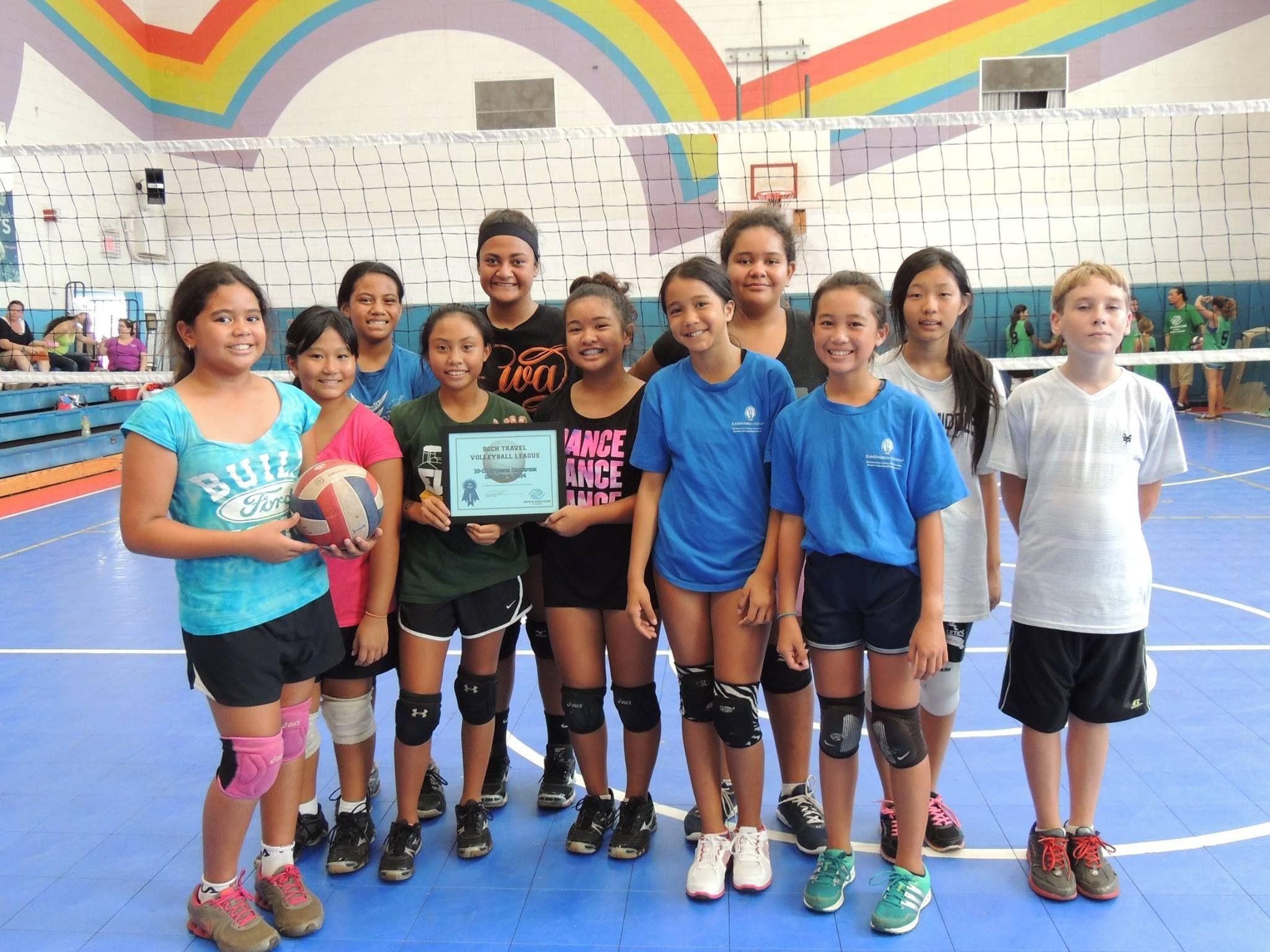 12u Team Volleyball Clubs Volleyball Basketball Court