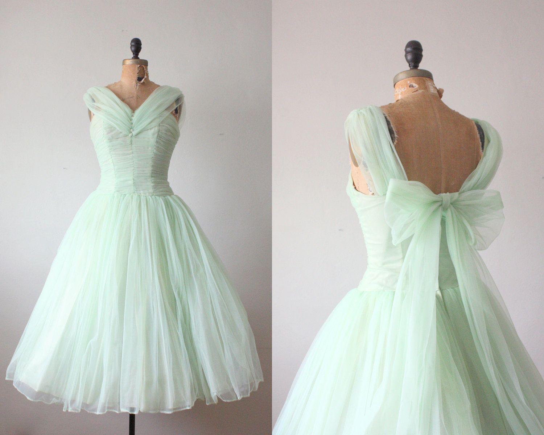 S dress mint green princess dress by thrush on etsy vintage