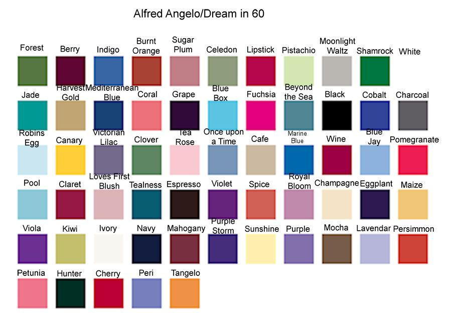 Alfred Angelo Color Chart Google Search Dress Pinterest