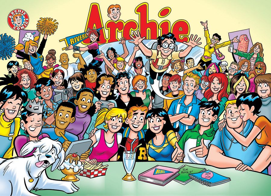 Archie the gang at pops 1000pc jigsaw puzzle by cobble