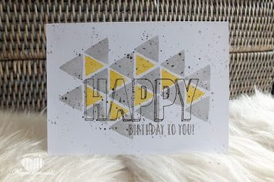 Magical Scrapworld, Happy birthday, gorgeous grunge, happy celebration, cas, one layer card, Stampin' Up!, spring catalogue 2017, occasions 2017