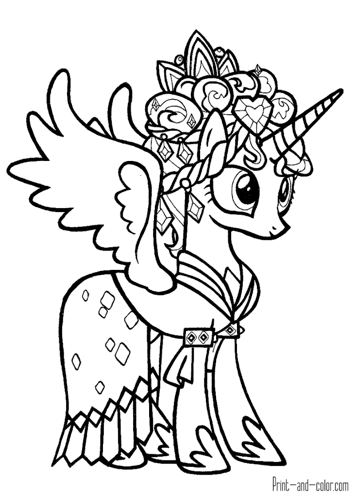 My Little Pony Coloring Pages Print And Color Com Unicorn Coloring Pages My Little Pony Coloring Horse Coloring Pages