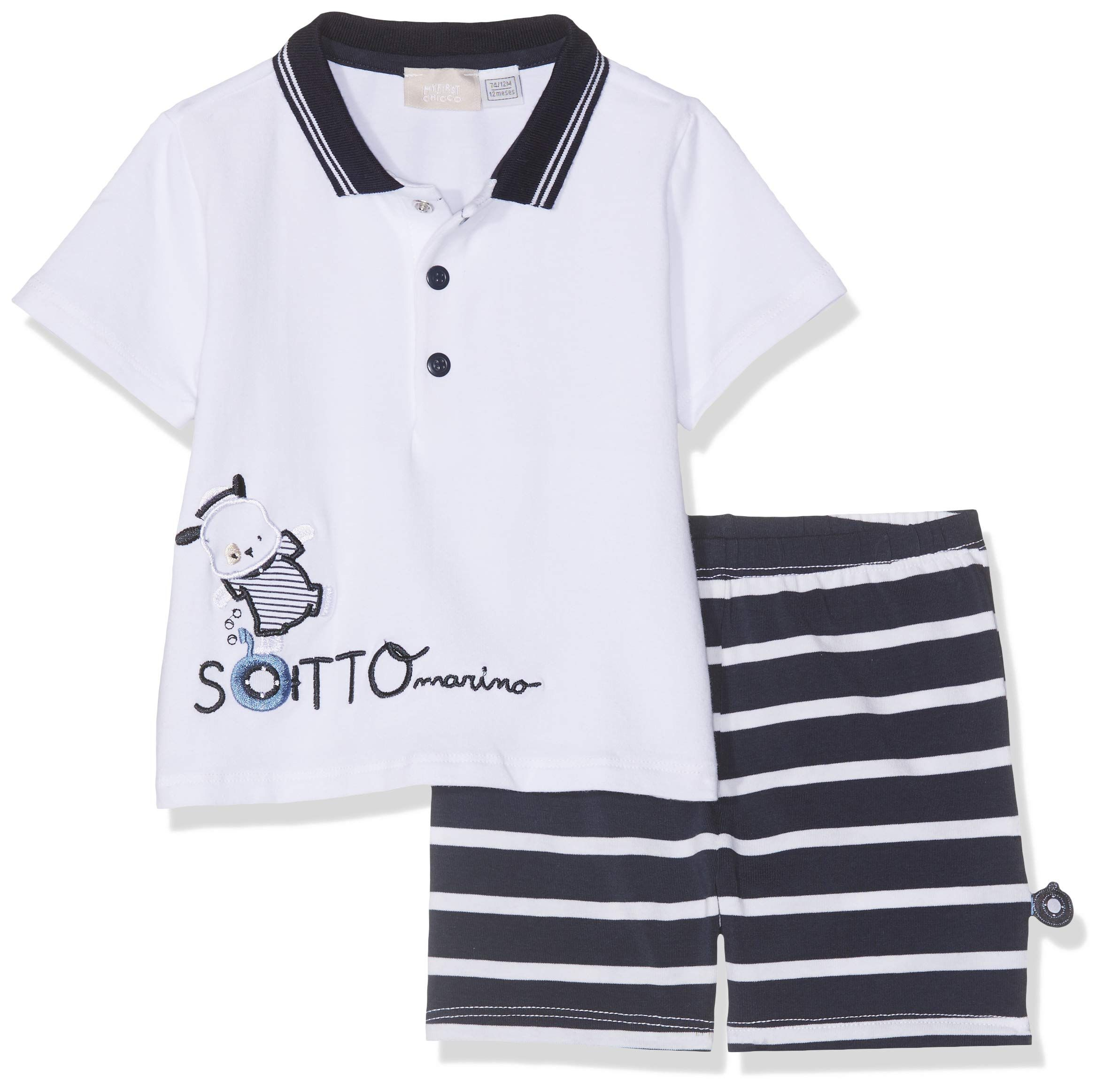 Chicco Baby-Jungen Polo Manica Corta Poloshirt