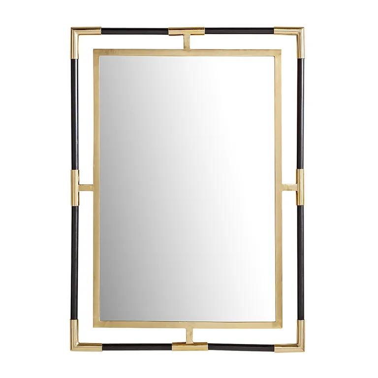 Black Gold Open Frame Mirror Pier 1 26 X 36 For 159 Mirror Frames Powder Room Mirror Black And Gold Bathroom