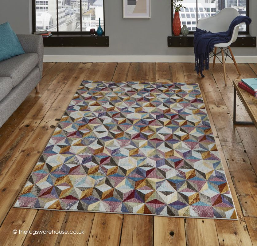 New Pipiltin Rug A Modern Machine Woven Polypropylene With An Abstract Multi