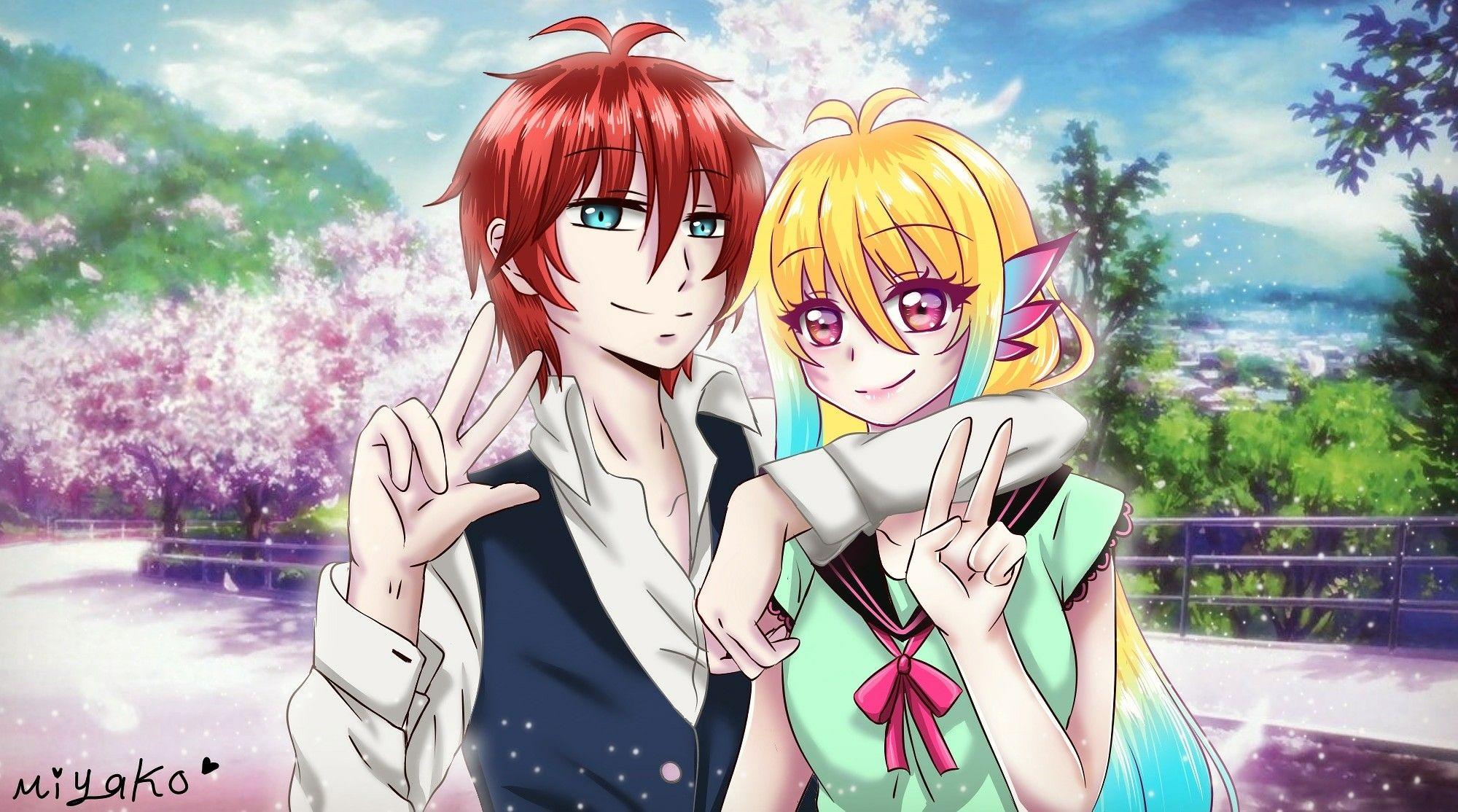 Animatic anime romantic drawing art Miyako مياكو