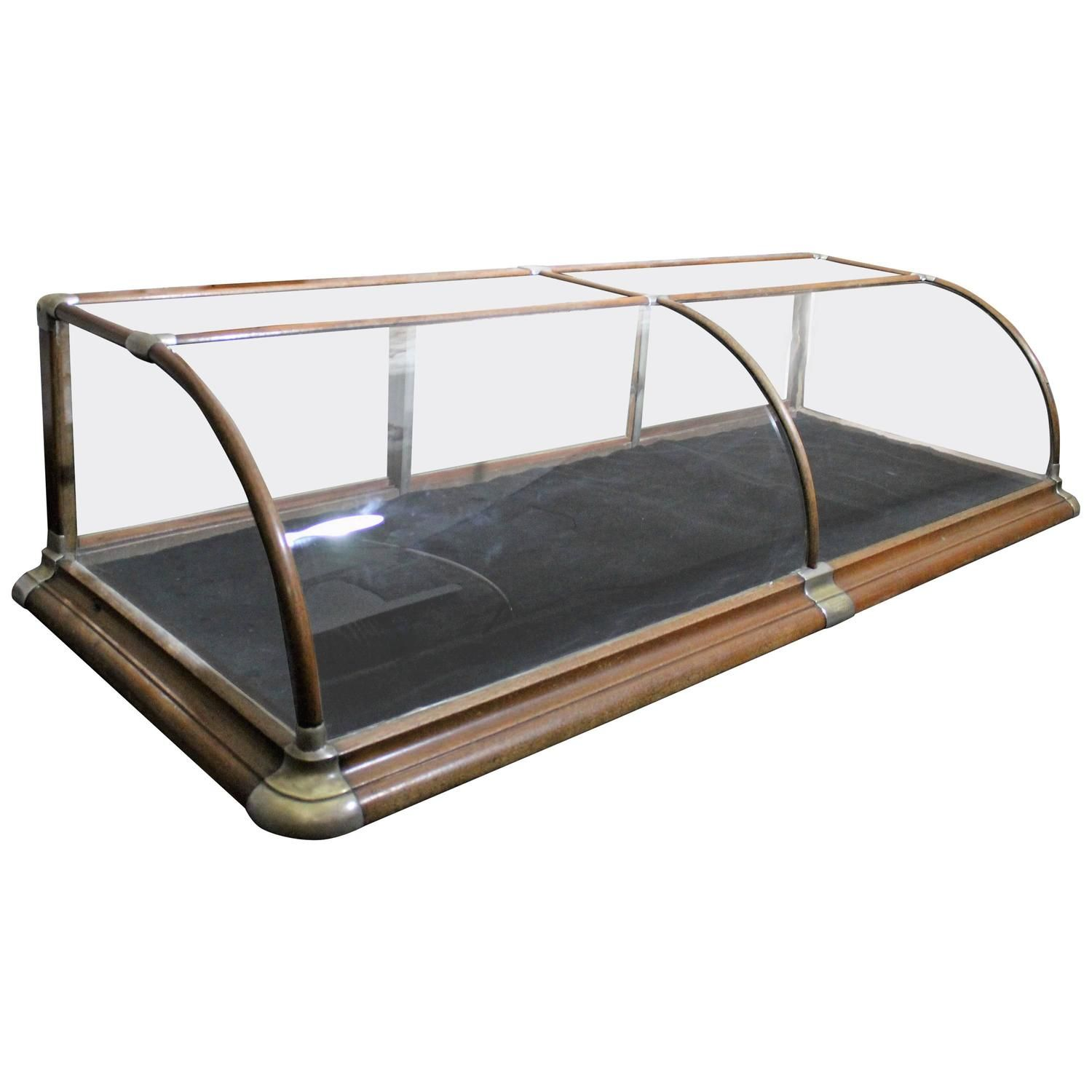 Counter Top Store Display Showcase With Curved Glass 1stdibs Com