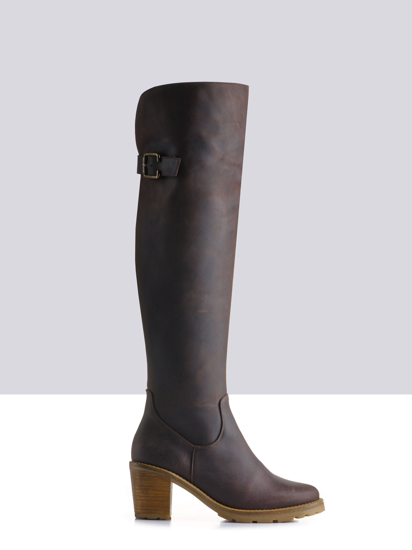 3aa632da004 Celestia Brown Leather ladies-boots - get them in your own custom calf size!