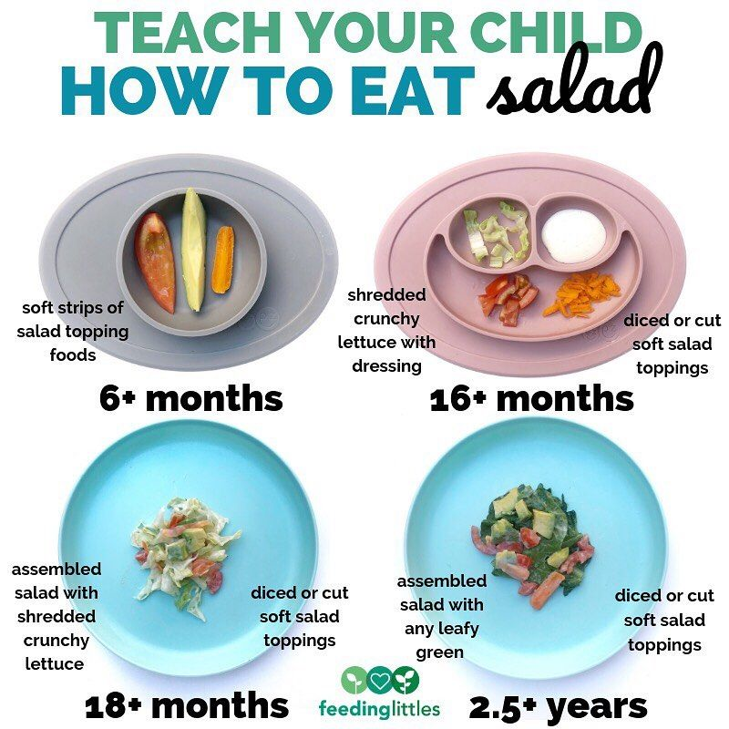 "Feeding Littles on Instagram: ""Teach your child how to eventually eat a salad!"