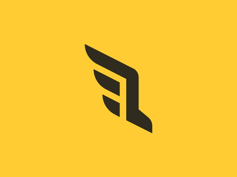 run wings logo concept wings logo logos and logo branding