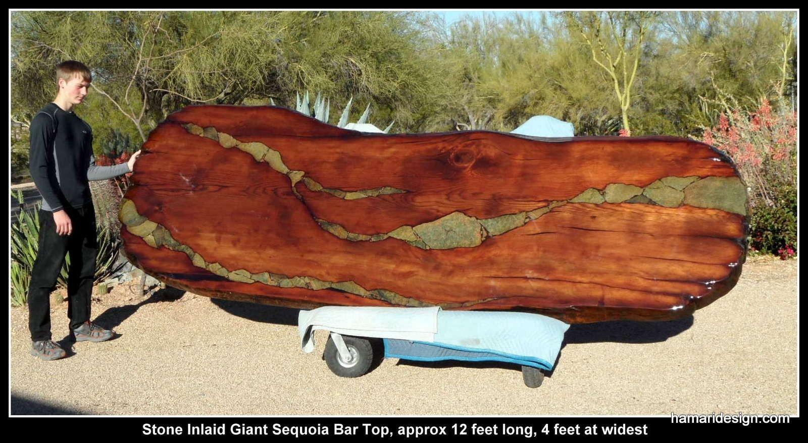 Custom made live edge wood slab giant sequoia redwood for Wood slab ideas